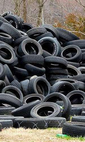 Coleta de pneus para reciclagem