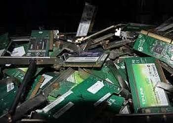 Coleta de resíduos eletrônicos em mg