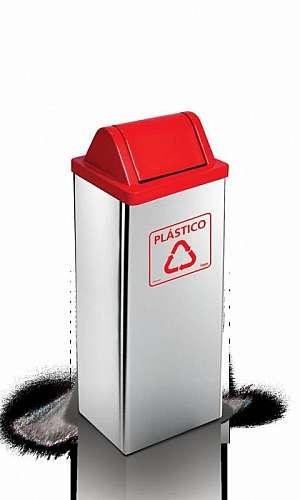 Coletor de Lixo em Aço Inox