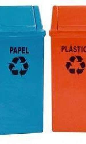 Coletor de lixo reciclavel