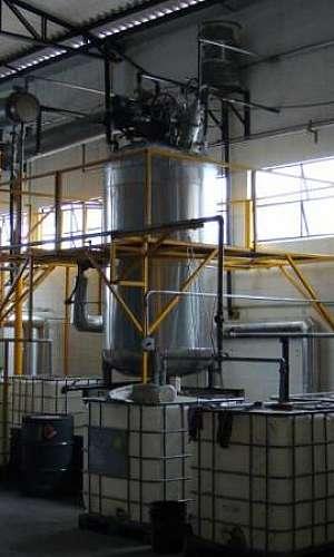 Empresa de recuperação de solventes