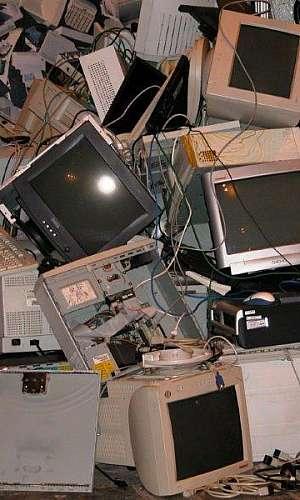 Empresa que recolhe lixo eletrônico